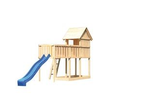 Akubi Stelzenhaus Frieda mit Wellenrutsche und Anbauplattform XL