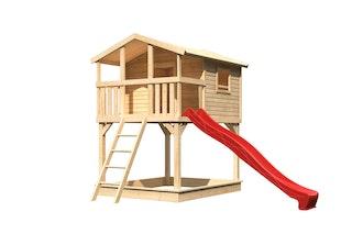 Akubi Stelzenhaus Benjamin mit Rutsche und Sandkasten