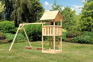 Akubi Kinderspielturm Lotti inkl. Doppelschaukel