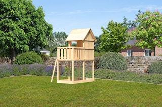 Akubi Kinderspielturm Frieda mit Anbau
