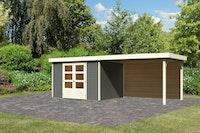 Karibu Woodfeeling Gartenhaus Askola 2/3/3,5/4/5 mit 280 cm Schleppdach + Rückwand