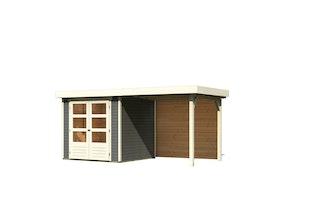 Karibu Woodfeeling Gartenhaus Askola 2/3/3,5/4/5/6 mit 240 cm Schleppdach + Rückwand
