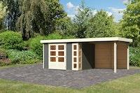 Karibu Woodfeeling Gartenhaus Kerko 3/4/5 mit 280 cm Schleppdach inkl. Rückwand - 19 mm
