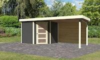 Karibu Woodfeeling Gartenhaus Schwandorf 3/5 inkl. 275 cm Schleppdach mit Rückwand - 19 mm