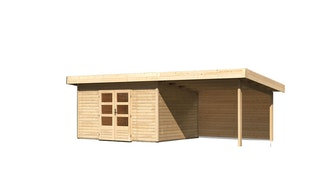 Karibu Woodfeeling Gartenhaus Northeim 4 inkl. 300 cm Schleppdach/Seiten- und Rückwand