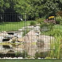 bellissa Teichschutzzaun ohne Schnörkel
