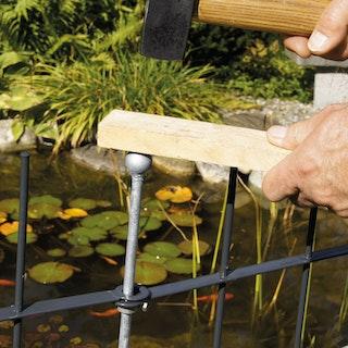 bellissa Pfosten für Teichschutzzaun