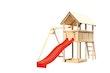 Akubi Kinderspielturm Danny mit Wellenrutsche und Einzelschaukelanbau