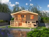 Karibu Woodfeeling Gartenhaus Blockholm 2 - 28 mm