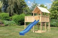 Akubi Kinderspielturm Danny mit Wellenrutsche und Anbauplattform XL