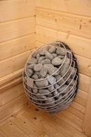 Wolff Finnhaus Premium Saunaofen hängend 9 kW mit Steinen