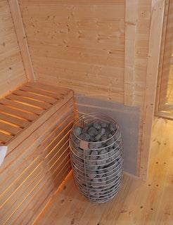 Wolff Finnhaus Premium Saunaofen stehend 9 kW mit Steinen