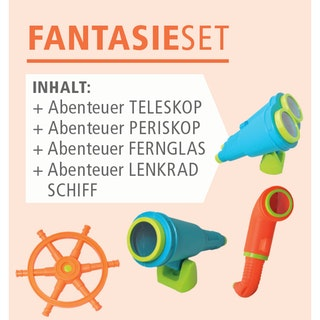 Akubi Fantasie Set inkl. Teleskop, Periskop, Fernglas und ein Lenkrad