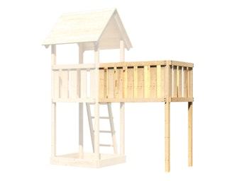 Akubi Anbauplattform  XL für Spielhaus Lotti, Danny, Frieda