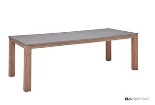 apple bee Esstisch BERKELEY Gestell Teakholz / Tischplatte Leichtbeton - Auslaufartikel