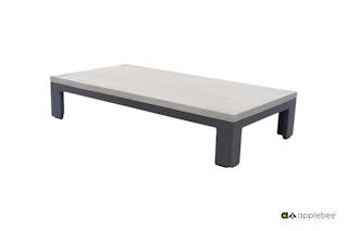 apple bee Lounge-Tisch DELGADO 130 x 70 Gestell Aluminium anthrazit / Tischplatte Betongrau