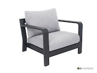 apple bee Lounge-Sessel DELGADO 88 Gestell Aluminium anthrazit / BEE WETT Light Grey
