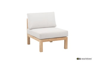 apple bee Lounge Erweiterung Mittelelement 69 FREJUS Gestell Teak Natural-BEE WETT Bright