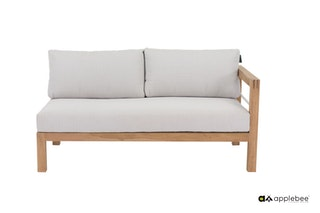 apple bee Lounge Sofa links 153 FREJUS Gestell Teak Natural-BEE WETT Bright