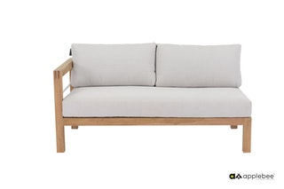 apple bee Lounge Sofa rechts 153 FREJUS Gestell Teak Natural-BEE WETT Bright