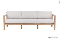 apple bee Lounge Sofa 237 FREJUS Gestell Teak Natural-BEE WETT Bright