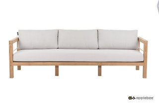 apple bee Lounge Sofa 237 FREJUS Gestell Teak Natural-BEE WETT Bright