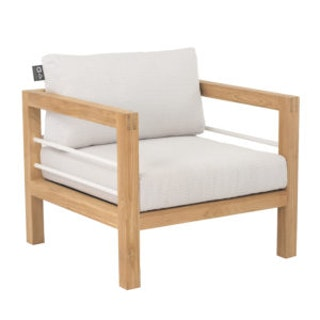 apple bee Loungesessel 81 FREJUS Gestell Teak Natural-BEE WETT Bright