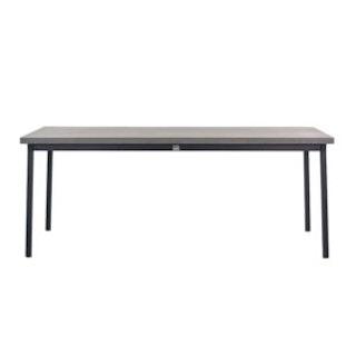apple bee Esstisch MILOU dining 240x100 cmGestell aluminium schwarz- Tischplatte Leichtbeton Bronze