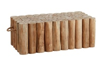 apple bee Lounge Kaffetisch 95 x 50 cm TWIGGY Teakholz