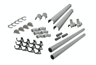 Karibu PVC Dachrinnen-Set für Satteldächer bis 200 cm (Set A)