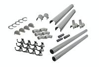 Karibu PVC Dachrinnen-Set für Satteldächer bis 300 cm (Set B)