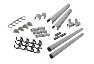 Karibu PVC Dachrinnen-Set für Satteldächer bis 500 cm (Set E)