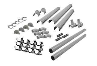 Karibu PVC Dachrinnen-Set für Satteldächer bis 600 cm (Set F)