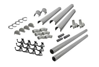 Karibu PVC Dachrinnen-Set für Satteldächer bis 1000 cm (Set H)
