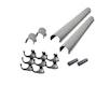 Karibu PVC Dachrinnen-Set für Flachdächer bis 500 cm (Set N)