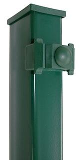 Kraus DS Rechteckpfosten K  60x40 mm mit Kunststoffklemmhalter-grün 1-1200 mm für 600mm hohe Matten (B-Ware)