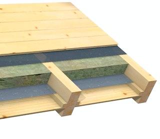 Infraworld Dachisolierung des Gartenhauses als Zwischensparrendämmung für Terra 2, 3