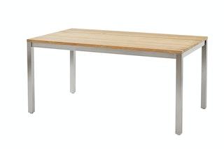 Diamond Garden Tisch SALERNO 160 x 90 cm Edelstahl / Teak