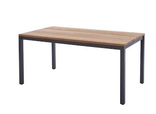 Diamond Garden Tisch RAVENNA 160 x 90 cm Edelstahl dunkelgrau / Recycled Teak