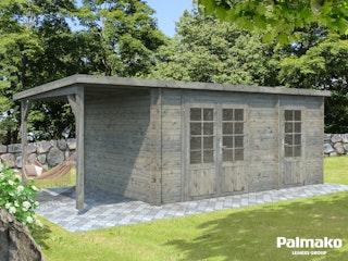 Palmako Gartenhaus Ella 13,1 m² Zweiraumhaus inkl. 3,9 m² Anbau - 28 mm