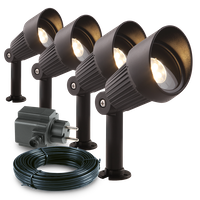 Garden Lights Strahler Focus 4er Set