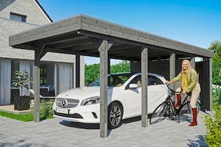 Skan Holz Carport Friesland 314x708 cm inkl. Abstellraum Sparset 2