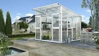 Vitavia Gewächshaus Aura 7800 inkl. 4 Fenstern - 7,8 m²