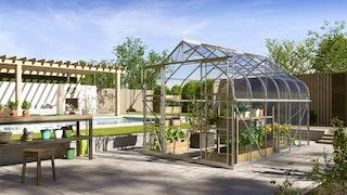 Vitavia Gewächshaus Dione/Diana 9900 inkl. 4 Dachfenster - 9,9 m²