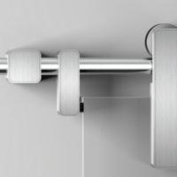 GRIFFWERK Schiebetürsystem R8 COMFORT Wand-Montage - Edelstahl-Optik matt