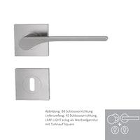 Griffwerk Wechselgarnitur LEAF LIGHT SIEGER DESIGN eckig - Samtgrau, Kaschmirgrau, Graphitschwarz