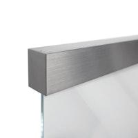 GRIFFWERK Schiebetürsystem PLANEO 60 PRO COMFORT Wand-Montage-Edelstahl-Optik matt