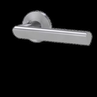 GRIFFWERK Drückergarnitur smart2lock 2.0 TRI 134 Schraubtechnik -Edelstahl matt Griffpaar mit Drückerrosetten