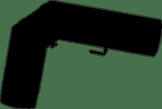 JUSTUS Rohrset Standart, schwarz, Ø150 mm