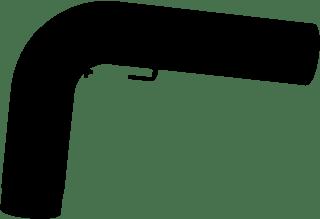 JUSTUS Rohrset gezogen, schwarz, Ø150 mm